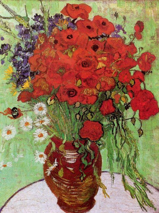 "Van Gogh ""Red Poppies and Daisies"" - Alexandra Luiza Dahl"