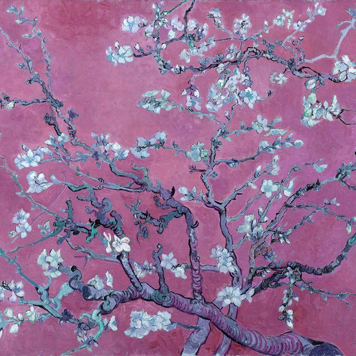 """Almond blossoms"" in deep orchid - Alexandra Luiza Dahl"