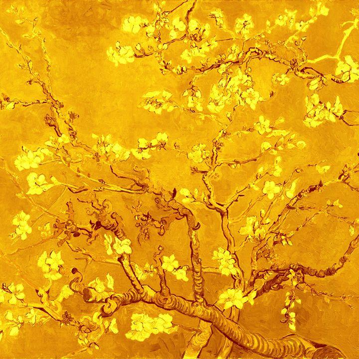 """Almond blossoms"" in gold - Alexandra Luiza Dahl"