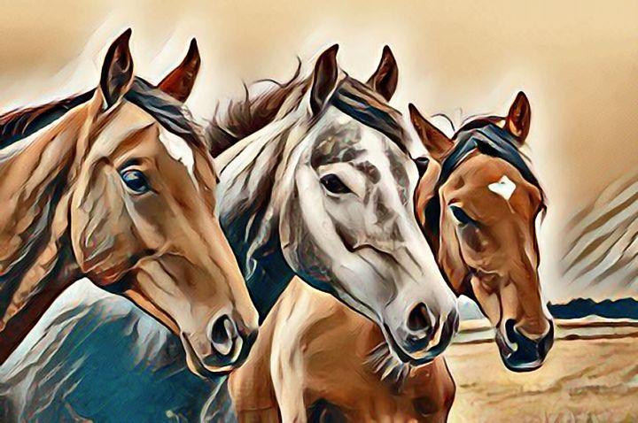 Theree horses - Alexandra Luiza Dahl