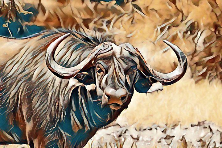 Cape buffalo 1. - Alexandra Luiza Dahl