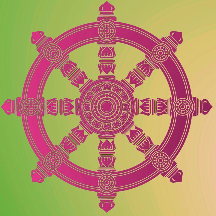 The Dharma Wheel (Dharmachakra) 2. - Alexandra Luiza Dahl