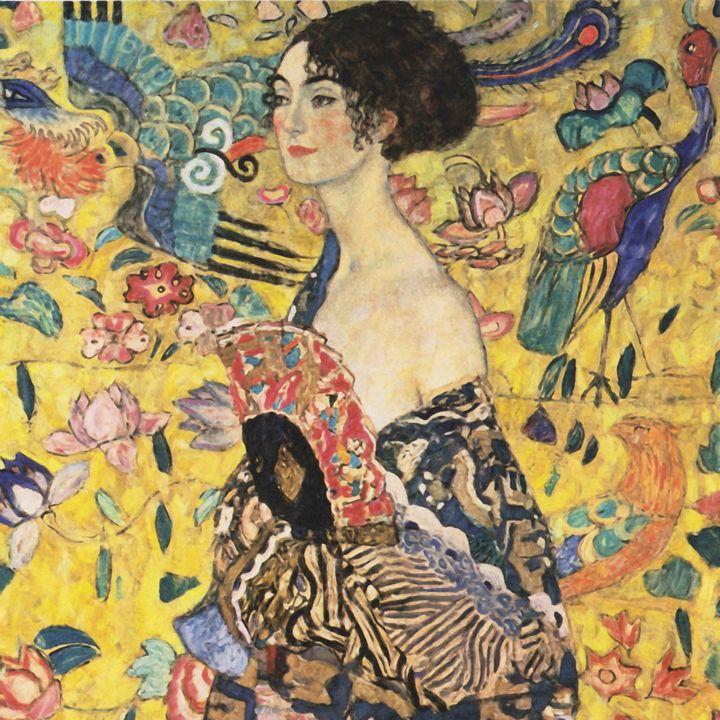 """Klimt """"Lady with Fan"""" - Alexandra Luiza Dahl"""