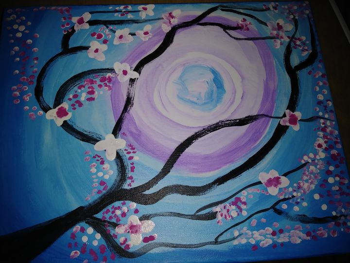 Blossoms At Night - Paintings