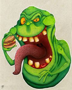 Slimer with Burger