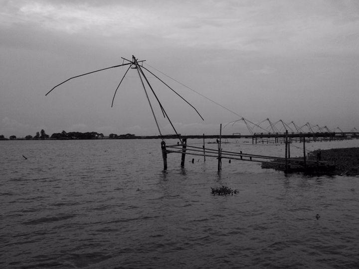 Vembanad Lake Fishing Nets - William Slider
