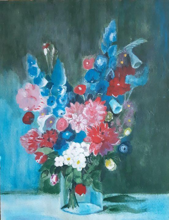 Colourfull flowers - Shanityart
