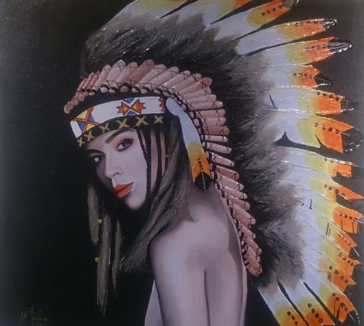 Native indian lady - Yabhieartgallery