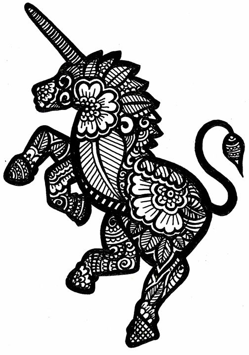 Unicorn Tattoo - نفيس ارا