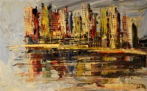 """Oil painting """"New York City"""" by Morr"""