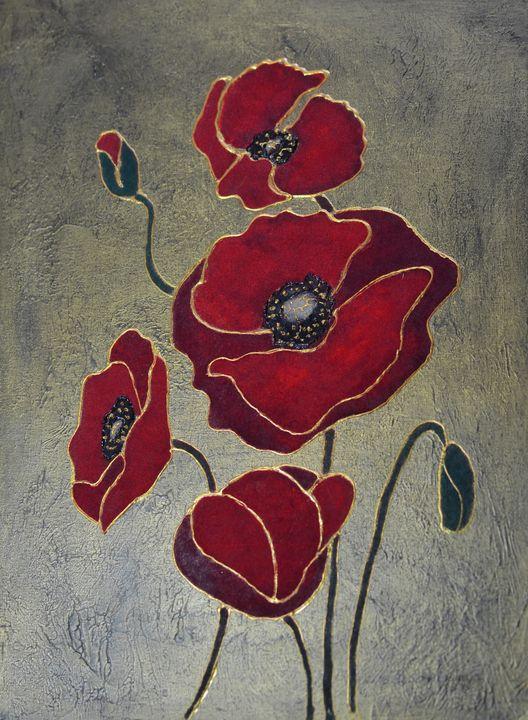 Velvet Poppies - Animalpaintings