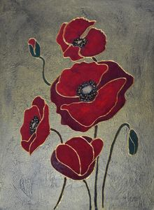Velvet Poppies - Animalpaintings