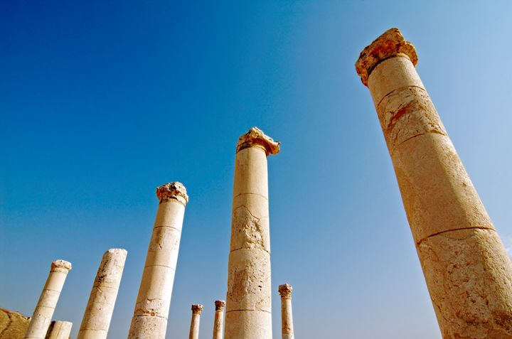 Israel, Bet Shean columns - PhotoStock-Israel