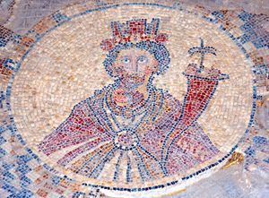 Israel, Bet Shean, Tyche mosaic - PhotoStock-Israel