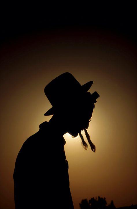 silhouette of a Jewish ultra religio - PhotoStock-Israel