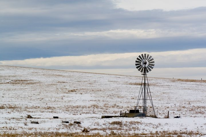 water pump in the snow Wyoming WY US - PhotoStock-Israel