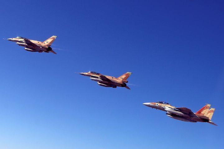 2 F16 and one F15 Israeli Air Force - PhotoStock-Israel