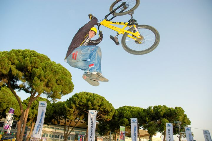 Extreme Bicycle sport jump - PhotoStock-Israel