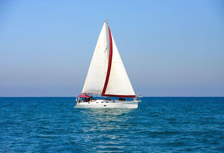 A yacht in the Mediterranean sea - PhotoStock-Israel