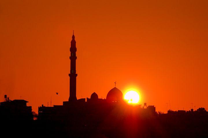 Jisr Az-Zarqa The Mosque at sunrise - PhotoStock-Israel