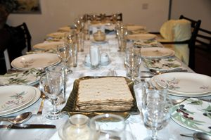 Table set for a Jewish Festive meal - PhotoStock-Israel