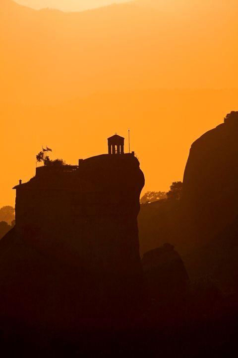 Monastery of St Nikolaous at dusk - PhotoStock-Israel