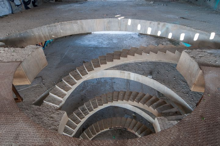 concrete spiral stairway - PhotoStock-Israel