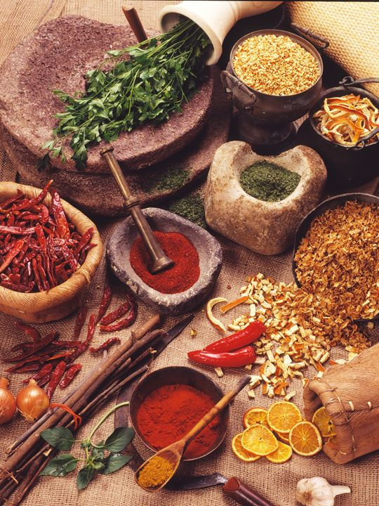 Still life with spices and herbs - PhotoStock-Israel