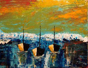Abstract Serenity Boats