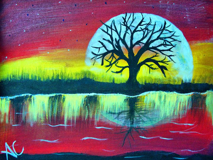 Moon Over Water - Ardelle's - AC Art Gallery
