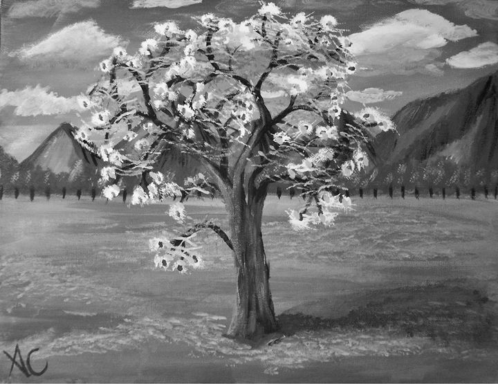 Tree of Love BW Edition - Ardelle's - AC Art Gallery
