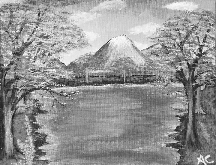 Volcano Peak BW Edition - Ardelle's - AC Art Gallery