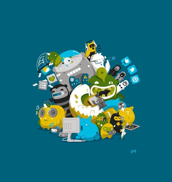 Technophiles - Eric Montag's Illustrations