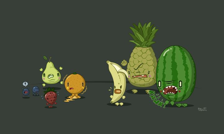 Mean Fruit - Eric Montag's Illustrations