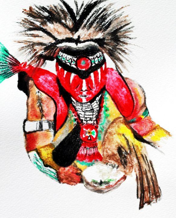 Sacred Prayer Painting - Ayasha Loya Fine Arts