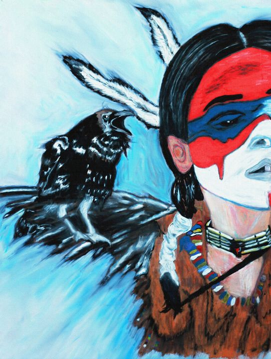 Native Raven - Ayasha Loya Fine Arts