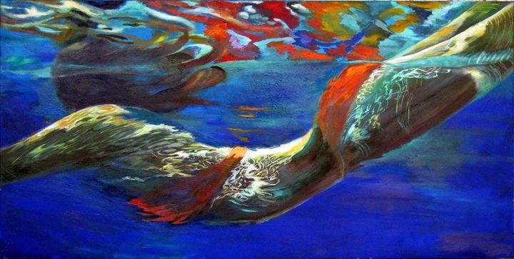 Pool swimmer - Art Studio- Lina Golan