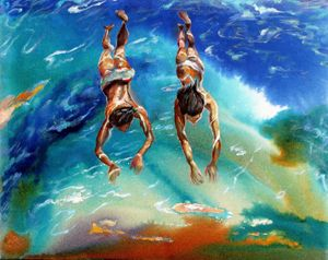 Young swimmers - Art Studio- Lina Golan