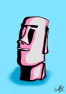 Moai Digital Pop-Art