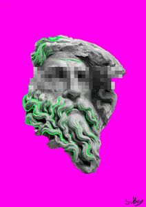 Statue head Digital Art