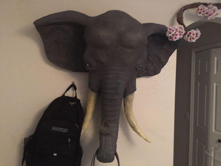 mixed media elephant - Scott Wilson