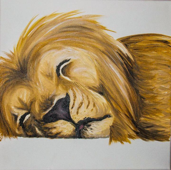 sleeping lion - Katie Golabowski
