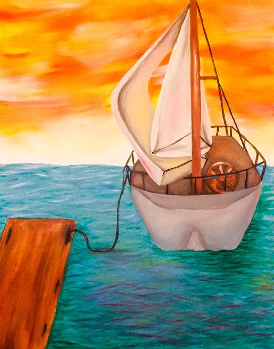 sail boat - Katie Golabowski