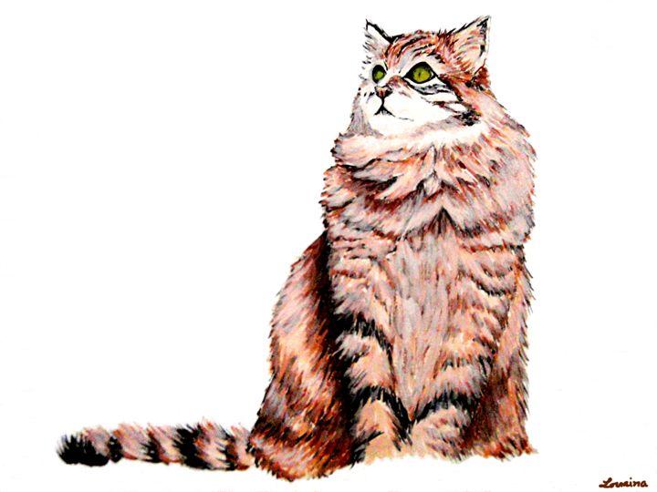 Cat in Gouache - Lorraina Dreamscapes Gallery