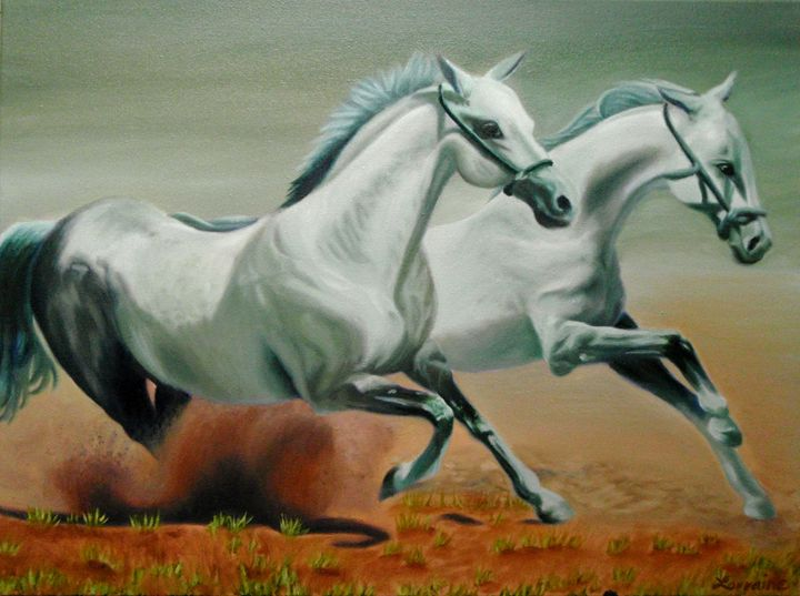Running Horses - Lorraina Dreamscapes Gallery