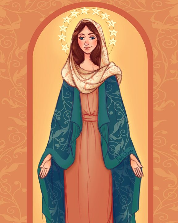 Queen of Peace - Art by Sarah Choate