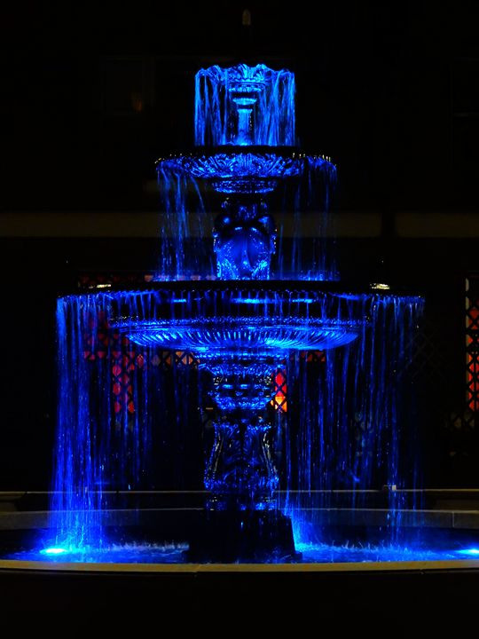 Midnight Fountain - Photography and assorted art