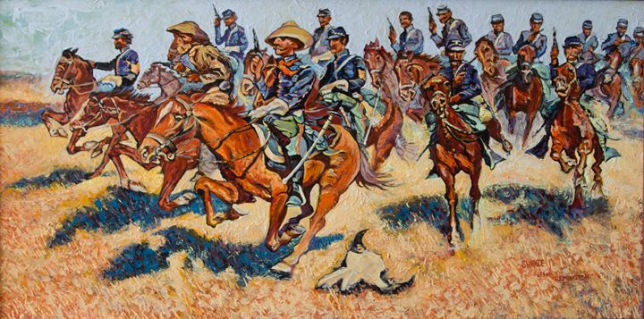 Cavalry Charge after Remington - SwayzeArt