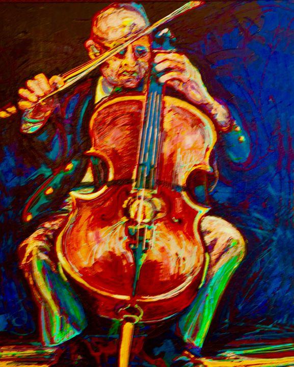 The Cellist - SwayzeArt
