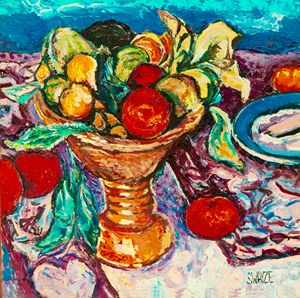 Fruit bowl after Bonnard